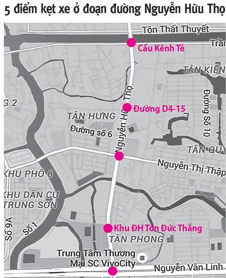 Đường ra cảng Hiệp Phước bị tắc do kẹt xe - ảnh 2