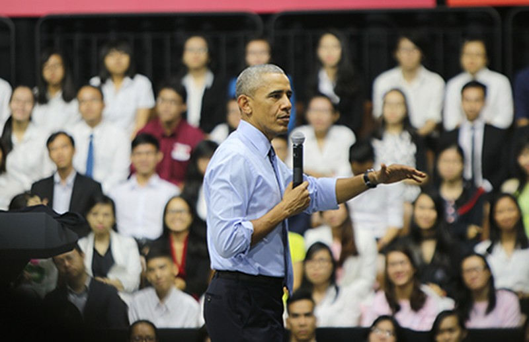 Ông Obama truyền cảm hứng cho giới trẻ  - ảnh 1