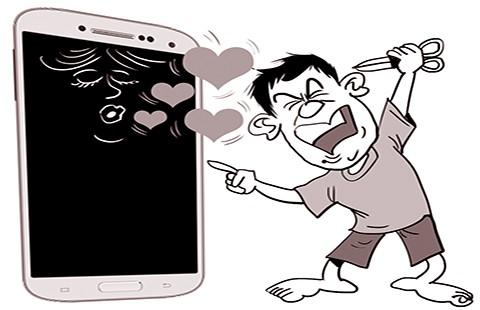 Bị chồng cũ đánh vì xem phim trên điện thoại - ảnh 1