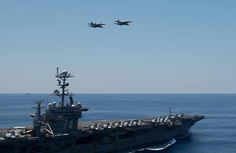 Tàu sân bay Mỹ diễn tập gần biển Đông - ảnh 1
