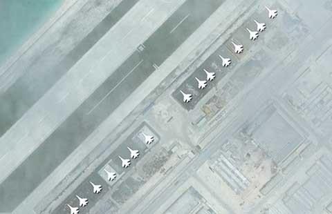 Trung Quốc ngang nhiên xây nhà để máy bay bọc thép - ảnh 1