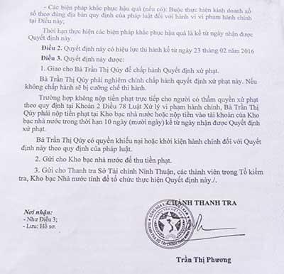 Phạt người bán vé số: Công ty XSKT Ninh Thuận nói gì? - ảnh 2
