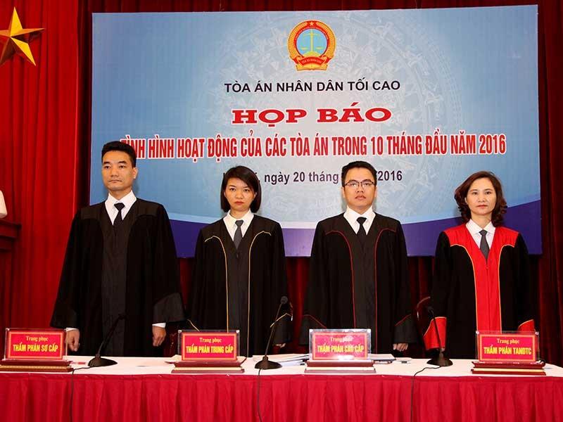 Thí điểm thẩm phán mặc áo choàng khi xử  - ảnh 1