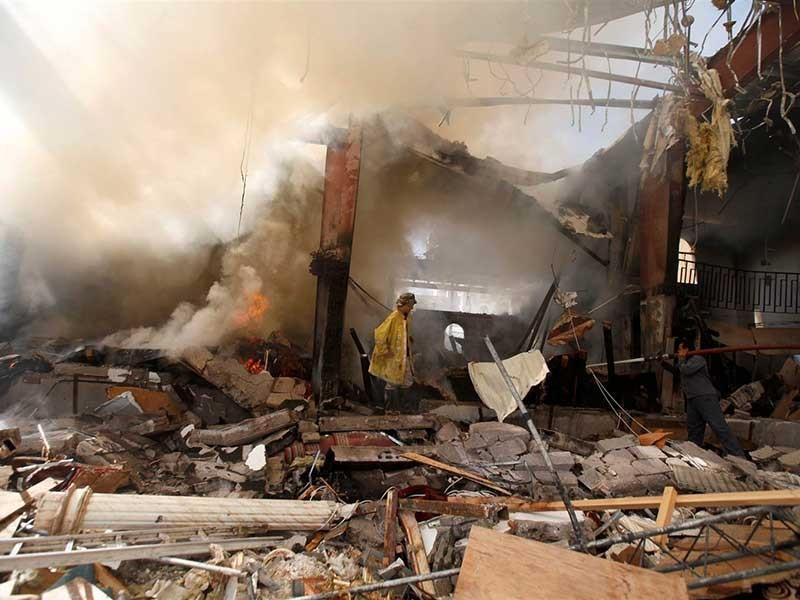 Liên quân Ả Rập thừa nhận ném bom nhầm vào dân - ảnh 1
