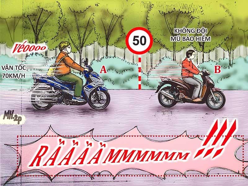 Tình huống kỳ 13: Người quá tốc độ, người không MBH - ảnh 1