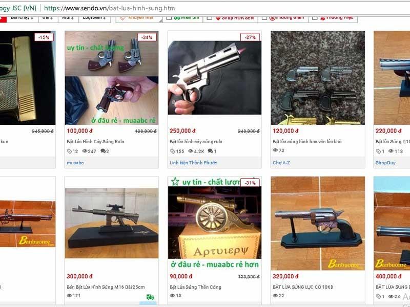 Vô tư mua bán hộp quẹt hình súng - ảnh 2