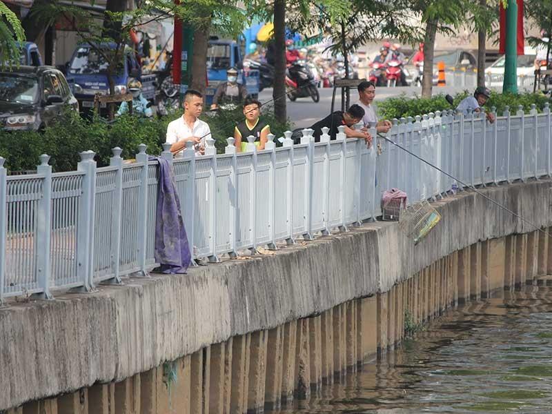 Nạn câu cá tái diễn ở kênh Nhiêu Lộc  - ảnh 1