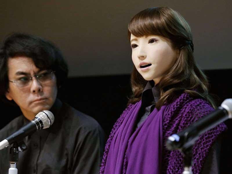 'Hot girl' người máy sẽ 'đốn tim' nam giới Nhật - ảnh 1