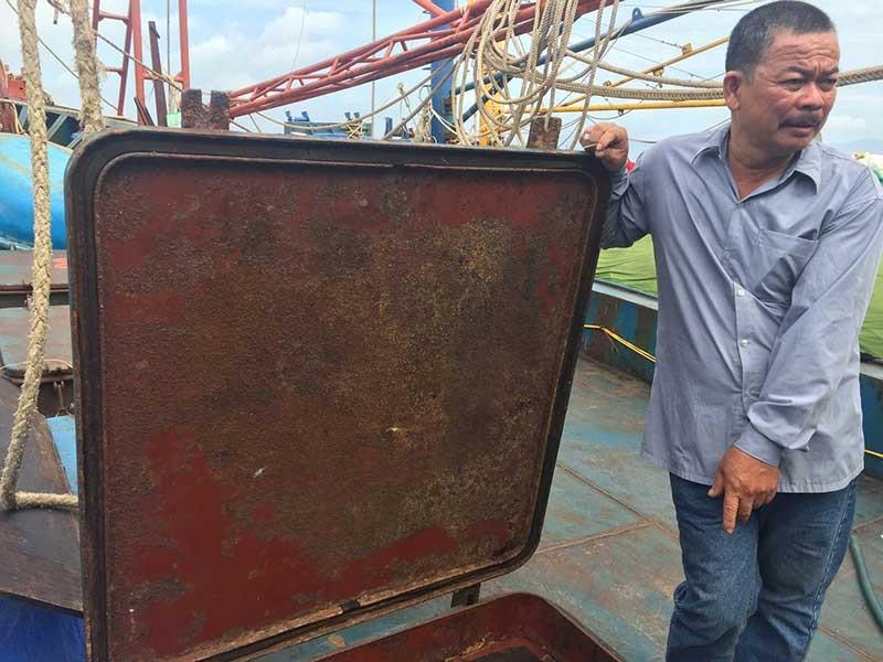 Buộc tháo dỡ tàu tráo vỏ thép Trung Quốc - ảnh 1