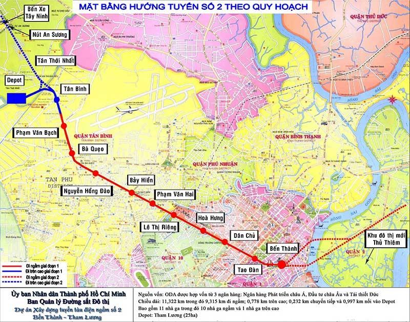 TP.HCM xin tăng 800 triệu USD làm tuyến metro số 2 - ảnh 2