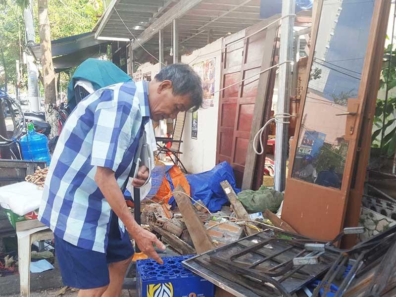 Khánh Hòa: Phường đã cho sửa lại nhà sập sau bão - ảnh 1