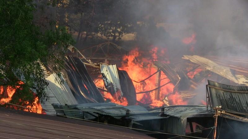 Hàng trăm cảnh sát dập đám cháy xưởng gỗ ở Thủ Đức - ảnh 2