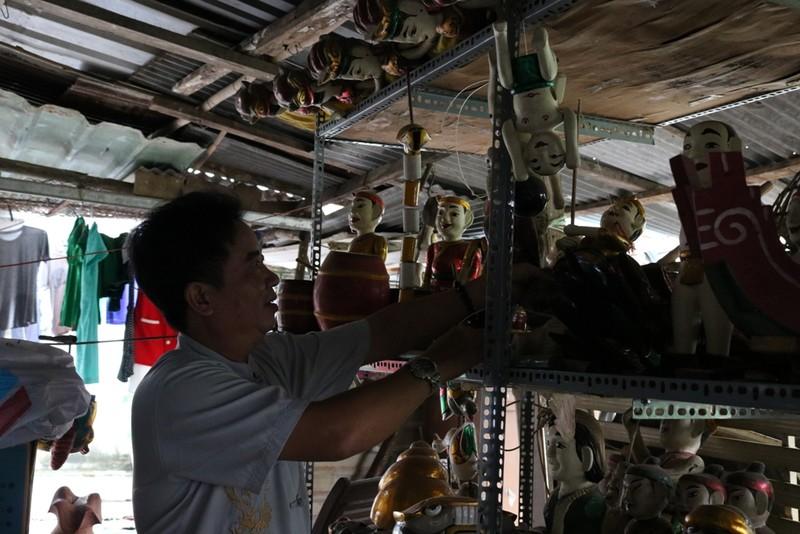Nghệ nhân với những con rối nước hiếm hoi ở Sài Gòn - ảnh 7