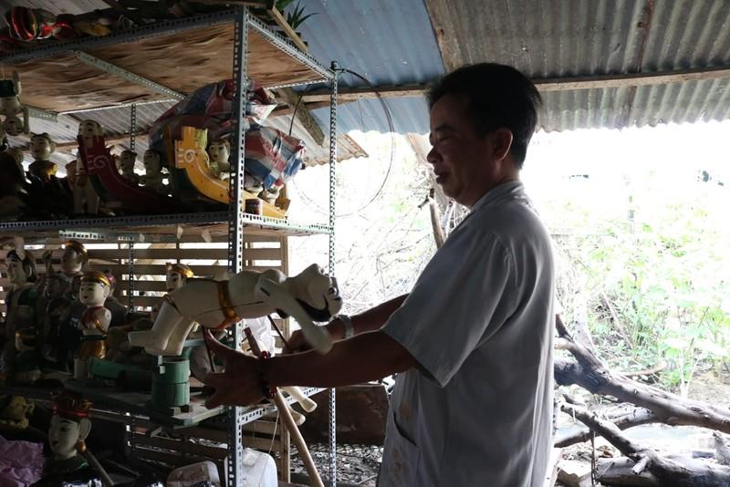 Nghệ nhân với những con rối nước hiếm hoi ở Sài Gòn - ảnh 18