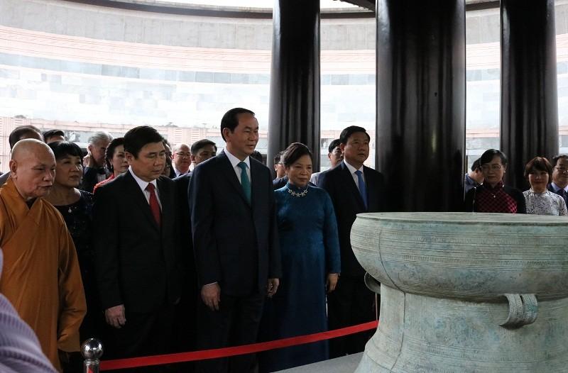 Chủ tịch nước dâng hương các Vua Hùng - ảnh 14