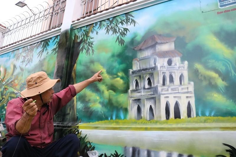 Ngẩn ngơ tranh tường trên phố Sài Gòn - ảnh 1