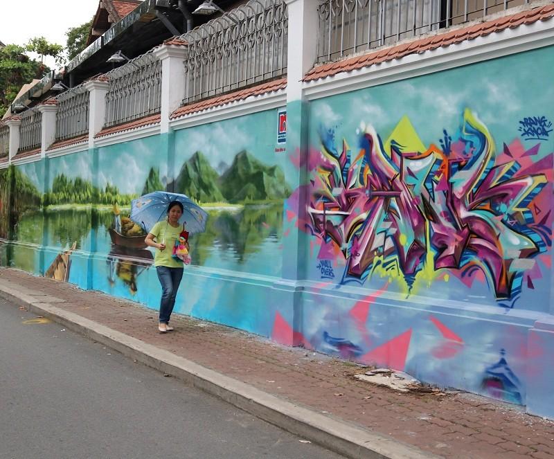 Ngẩn ngơ tranh tường trên phố Sài Gòn - ảnh 4