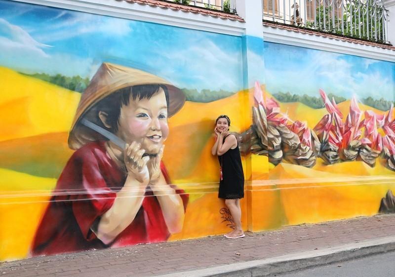Ngẩn ngơ tranh tường trên phố Sài Gòn - ảnh 7