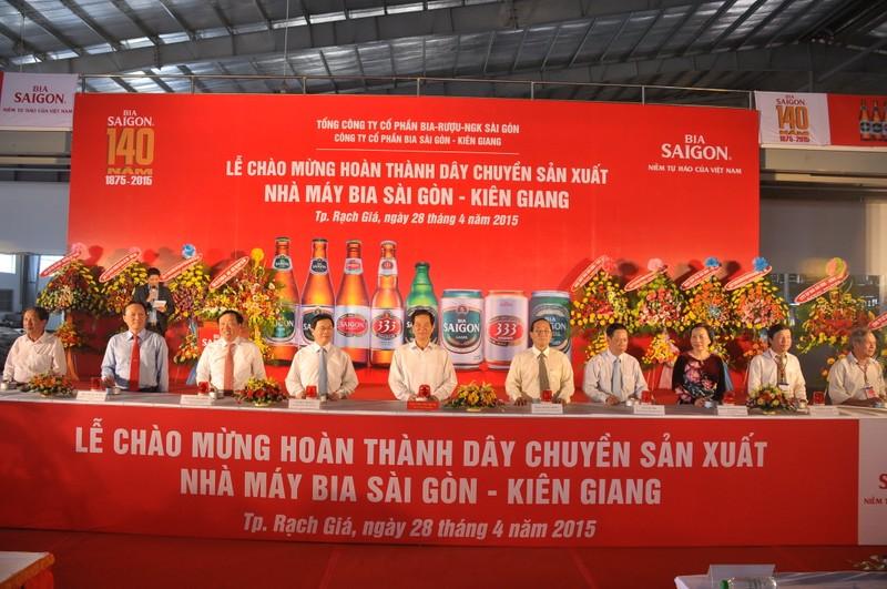 Bia Sài Gòn - Kiên Giang hoàn thành dây chuyền mới - ảnh 1