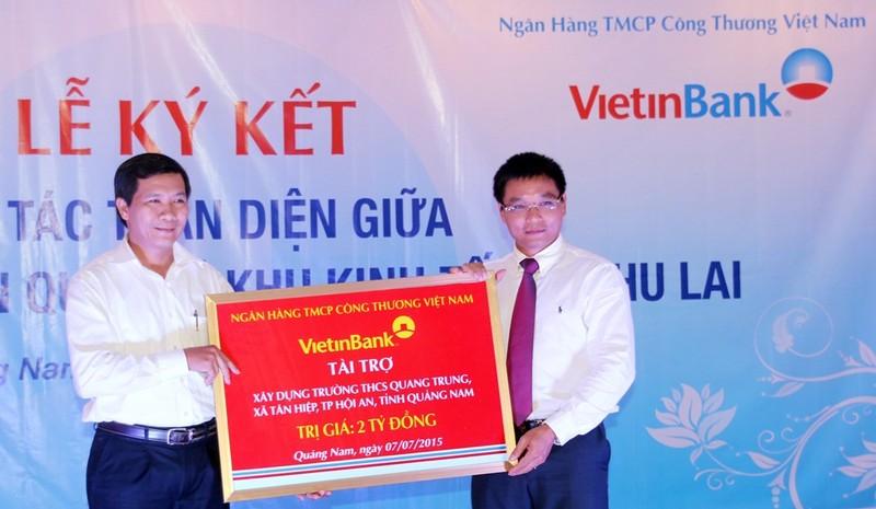 VietinBank hợp tác toàn diện với Khu kinh tế mở Chu Lai - ảnh 1