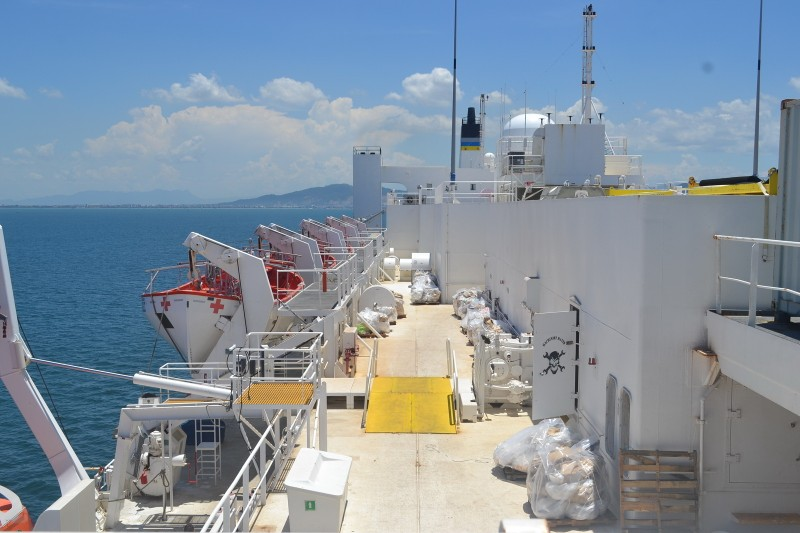 Tàu bệnh viện khổng lồ của Hải quân Mỹ cập cảng Đà Nẵng - ảnh 13