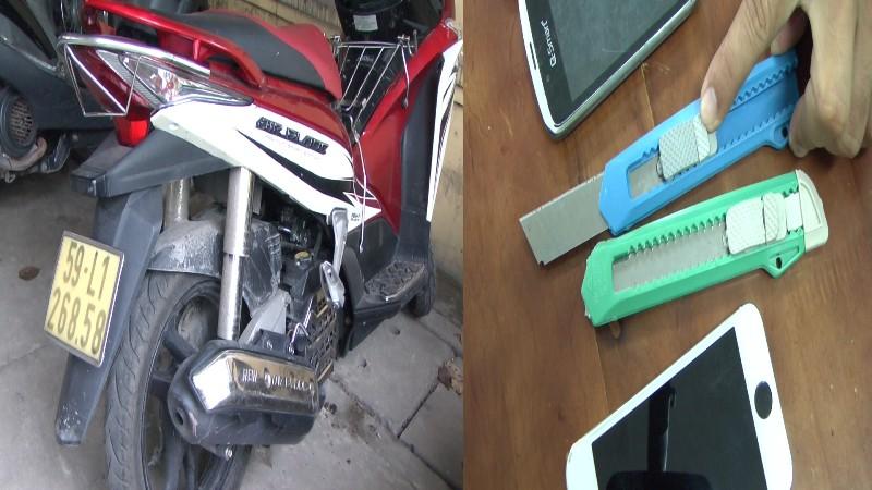 Bắt băng nhóm dùng kim tiêm và dao rọc giấy cướp xe  - ảnh 2