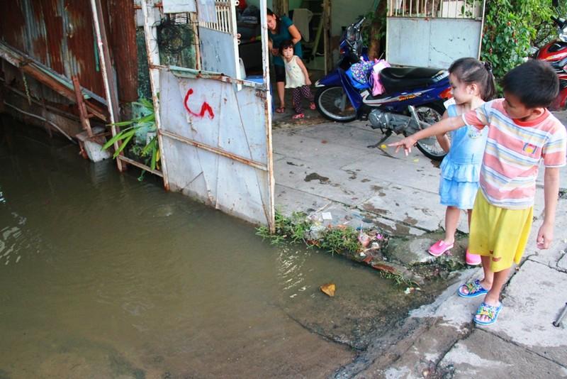 Triều cường, người Sài Gòn bì bõm lội nước về nhà - ảnh 9