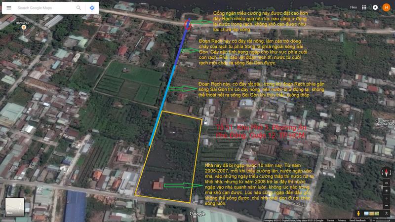 Nhà ngập bỏ hoang ở Sài Gòn nhìn từ Google Maps - ảnh 1