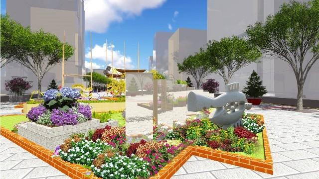 Đưa điêu khắc vào đường hoa Nguyễn Huệ tết Bính Thân  - ảnh 5