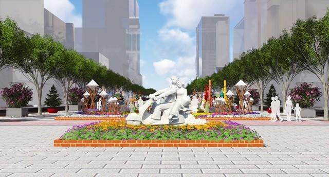 Đưa điêu khắc vào đường hoa Nguyễn Huệ tết Bính Thân  - ảnh 2