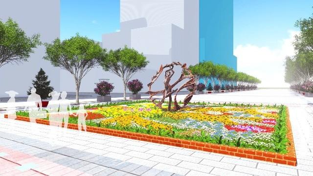Đưa điêu khắc vào đường hoa Nguyễn Huệ tết Bính Thân  - ảnh 3
