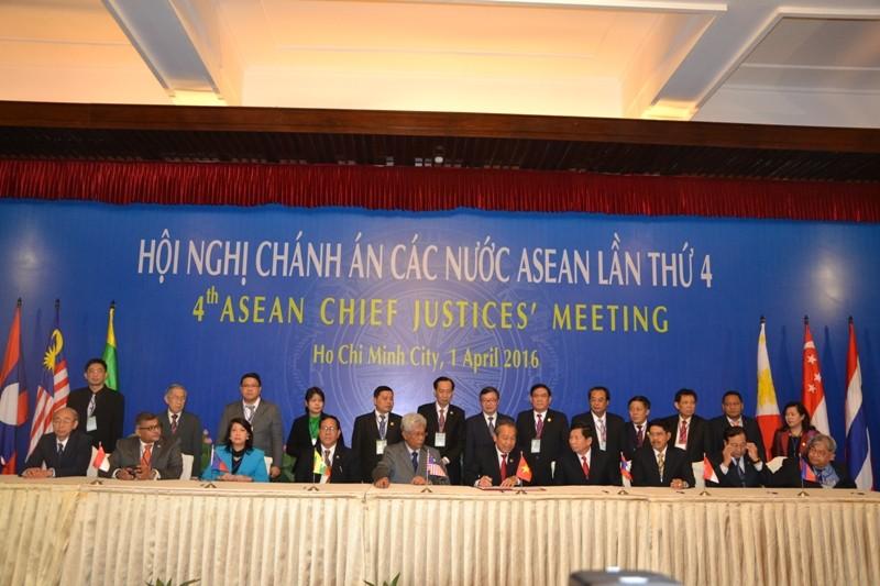 Tuyên bố chung tại Hội nghị Chánh án ASEAN lần thứ 4 - ảnh 1