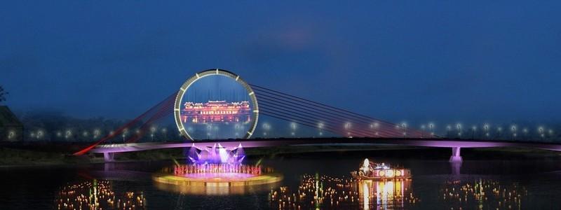 Nón Huế đạt giải nhất thi kiến trúc cầu vượt sông Hương - ảnh 2