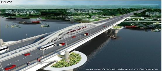 Nón Huế đạt giải nhất thi kiến trúc cầu vượt sông Hương - ảnh 3