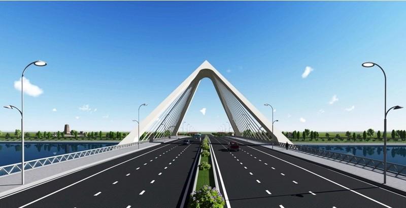 Nón Huế đạt giải nhất thi kiến trúc cầu vượt sông Hương - ảnh 1