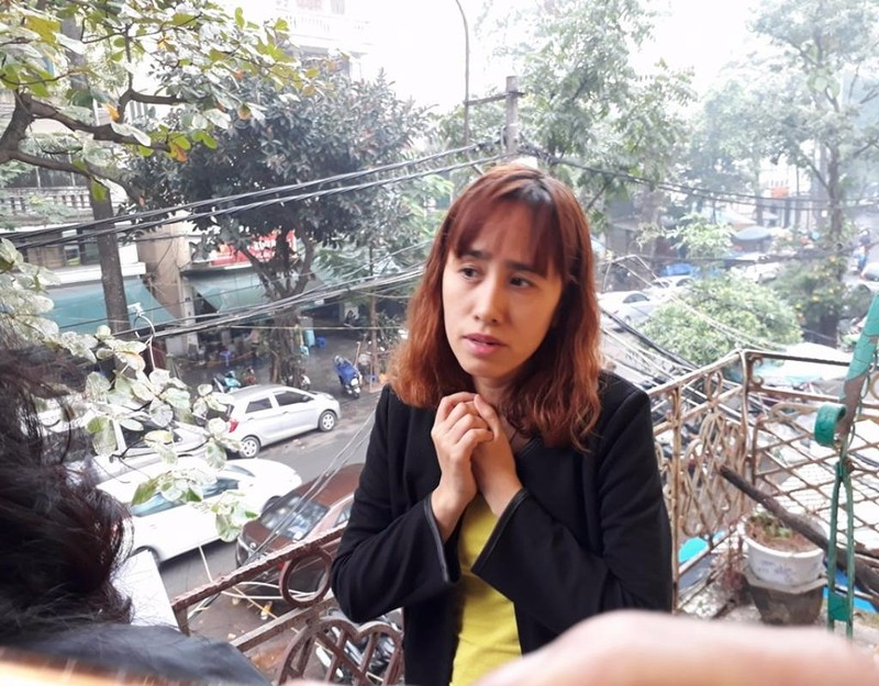 Chị Nguyễn Thị N, mẹ cháu K.