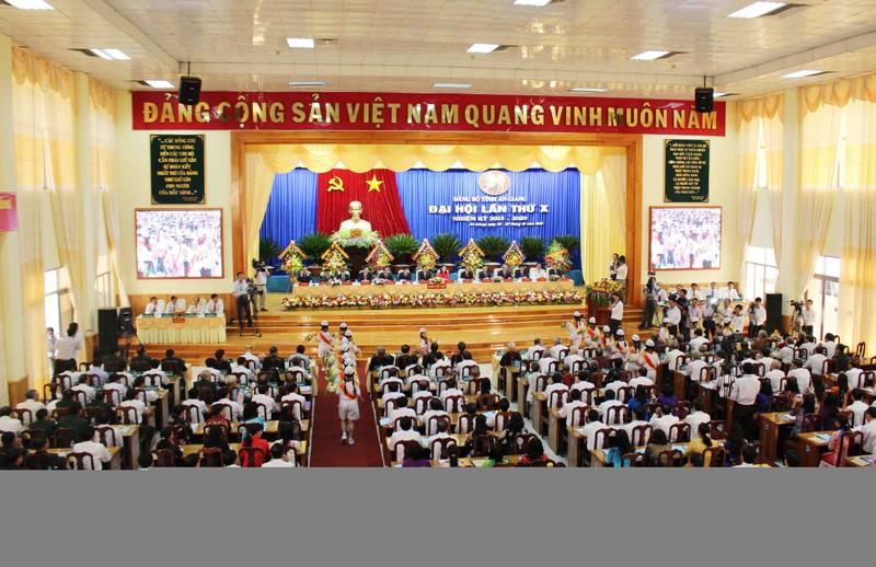 Khai mạc Đại hội Đảng bộ tỉnh An Giang lần thứ X - ảnh 1