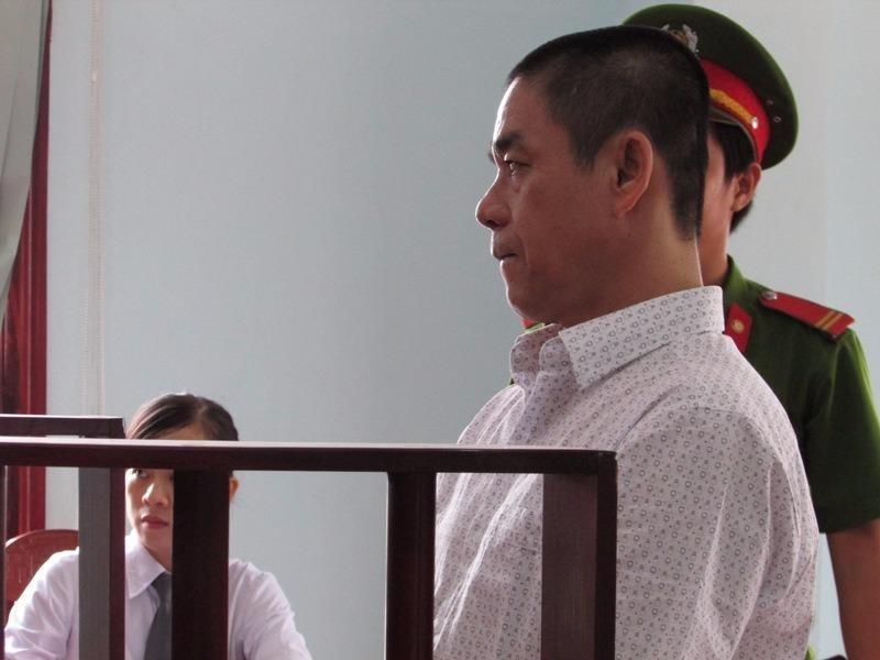 Bị cáo Võ Văn Tư tại phiên tòa sơ thẩm ngày 25-7
