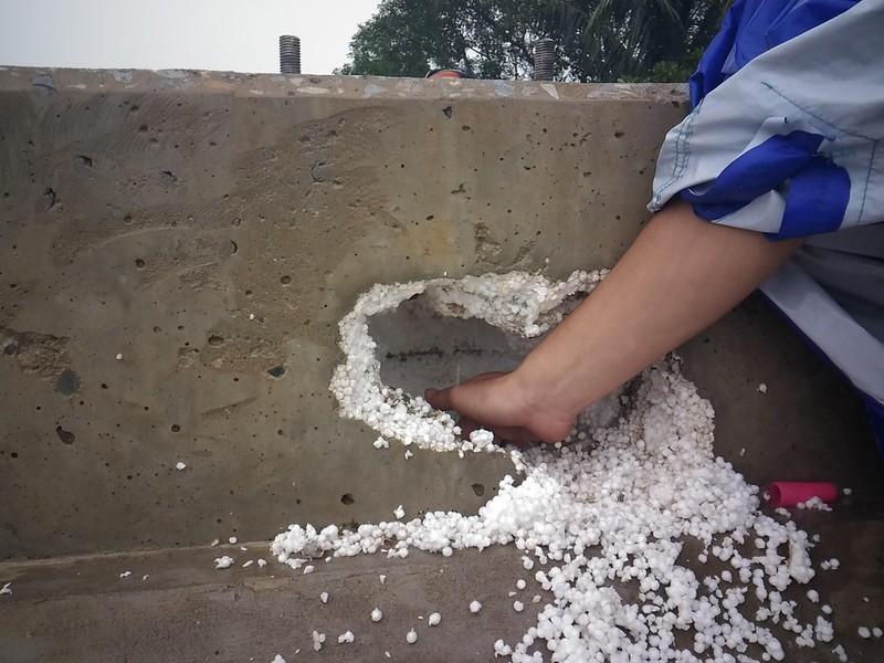 """Sở GTVT Hà Nội: """"Không dùng xốp độn bê tông để ăn bớt vật liệu"""" - ảnh 2"""