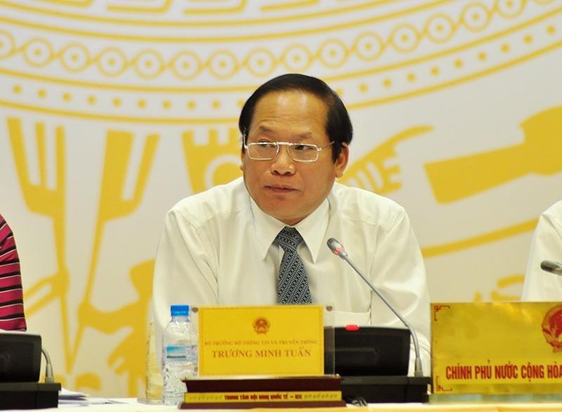 Bộ trưởng Bộ TTTT Trương Minh Tuấn
