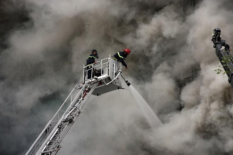 Vụ cháy quán karaoke số 68 Trần Thái Tông (Cầu Giấy) khiến 13 người chết. Ảnh: Phi Hùng