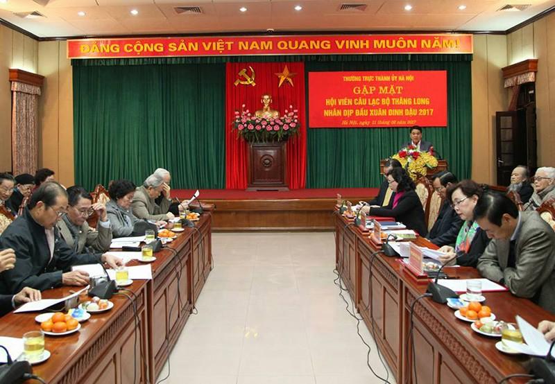Bí thư TP Hà Nội nghe CLB Thăng Long góp ý - ảnh 1