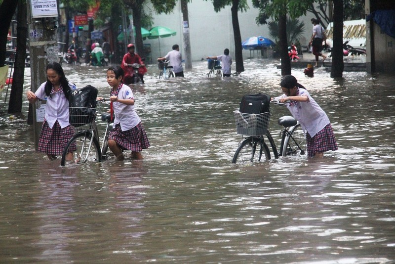 Mưa lớn, đường Sài Gòn lại ngập - ảnh 6