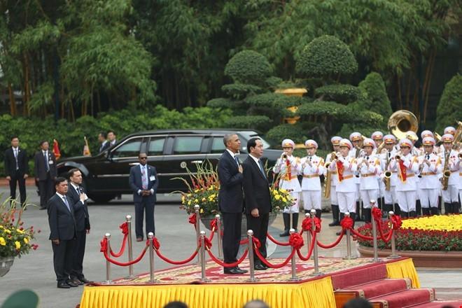 Chùm ảnh: Lễ đón chính thức Tổng thống Obama  - ảnh 11
