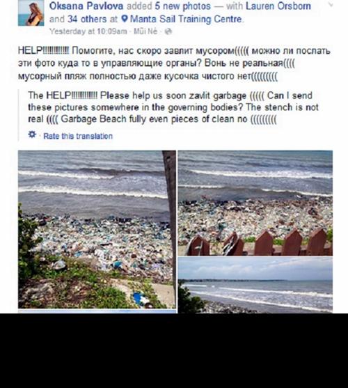 Kiểm tra thông tin biển Mũi Né đầy rác trên Facebook của du khách Nga - ảnh 1