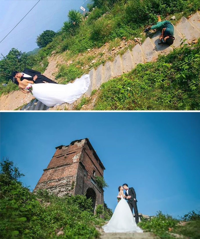 Chùm ảnh minh chứng chụp ảnh cưới là nghề khổ nhất năm - ảnh 7
