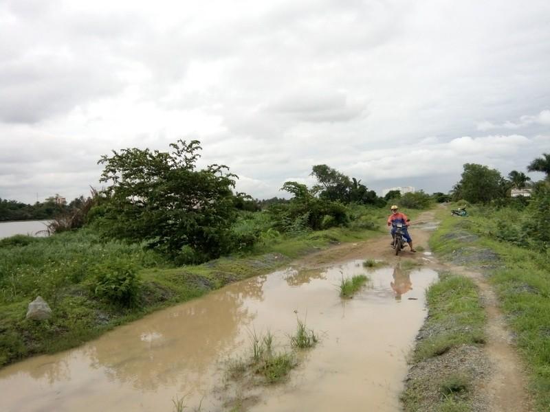 Đếm không xuể hư hỏng ở đê bao sông Sài Gòn  - ảnh 3
