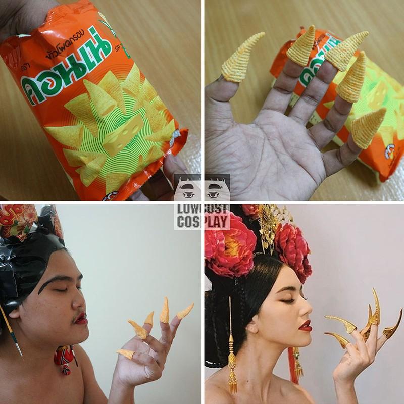 Bộ móng của mỹ nữ Trung Hoa được thay bằng bim bim