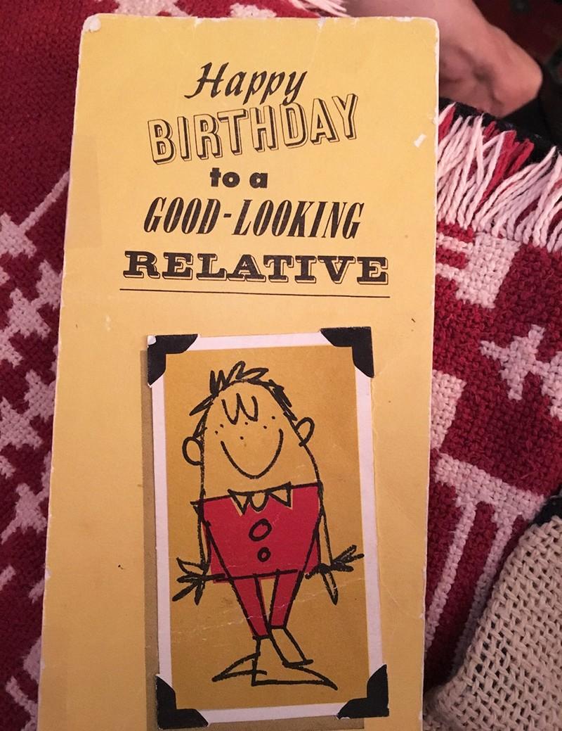 Mặt trước của tấm thiệp sinh nhật đặc biệt.