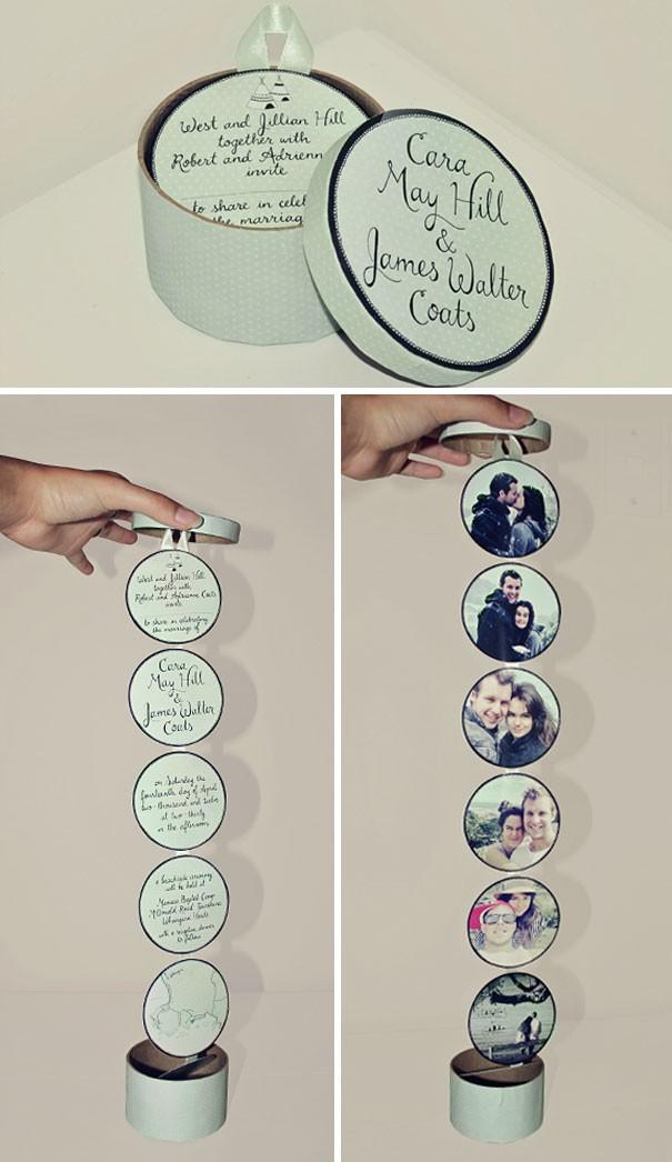 Chiếc thiệp cưới này có thể dùng để trang trí trong nhà.